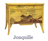 Alt:  The Jonquille is a striking piece which differs from the typical Louis XV chest of drawers model